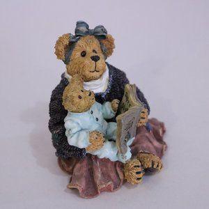 Boyds Bears Accents - Boyds Bear Resin Momma Mcbearsley with Jordan book